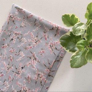 Cherry blossom printed soft shawl